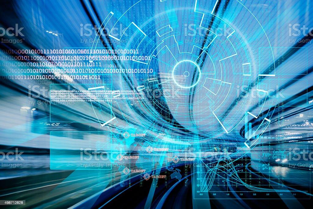 cyber laser sur un concept de vitesse cible - Photo