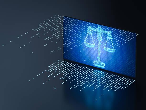 사이버 법률 개념 - 정의 뉴스 사진 이미지