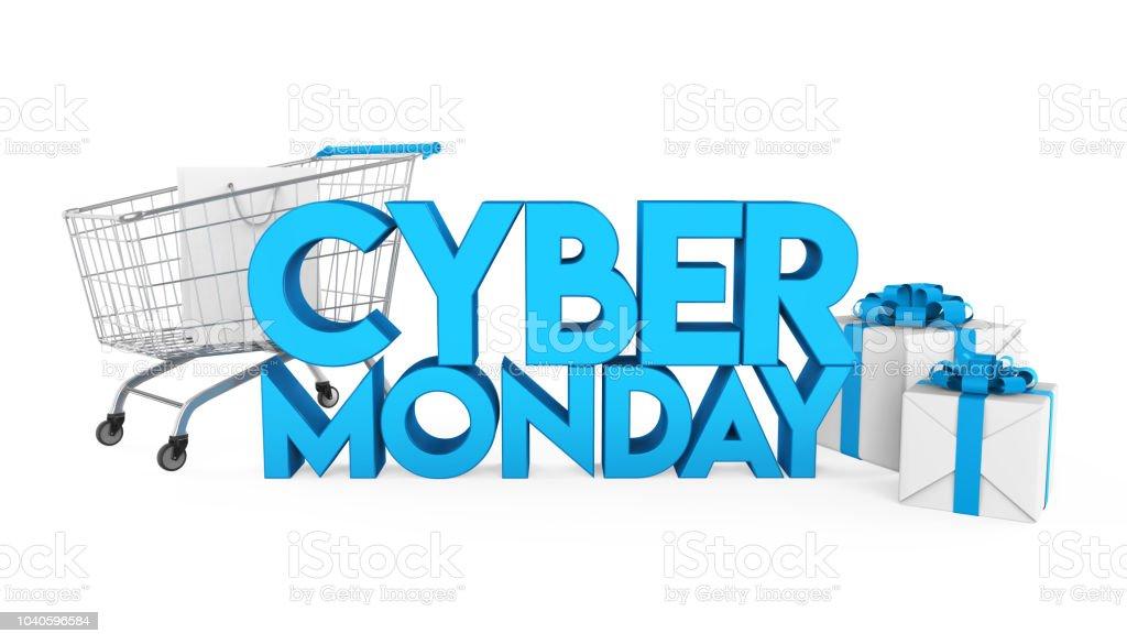 Cyber Monday Concept Isolated - Стоковые фото Горизонтальный роялти-фри