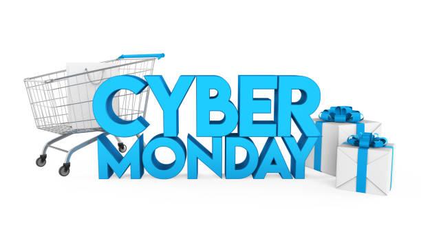 cyber monday concept isolated - cyber monday стоковые фото и изображения
