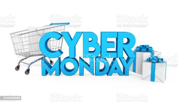 Cyber Monday Concept Isolated — стоковые фотографии и другие картинки Горизонтальный