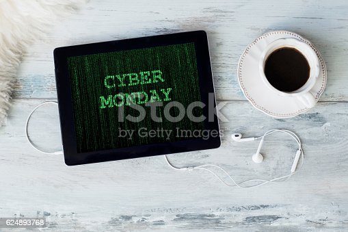 Cyber Monday on tablet computer