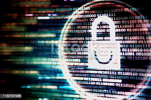 istock cyber network security blue color. 1153167068