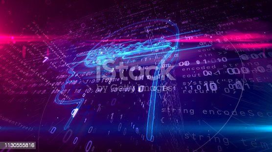 683716072 istock photo Cyber privacy concept with key in head 1130555816