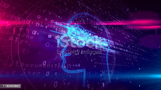 istock Cyber privacy concept with key in head 1130555852