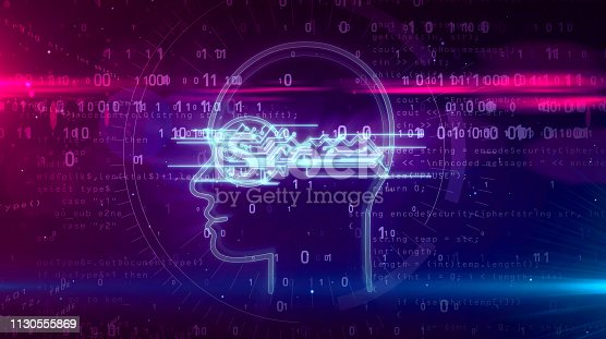 istock Cyber privacy concept with key in head 1130555869