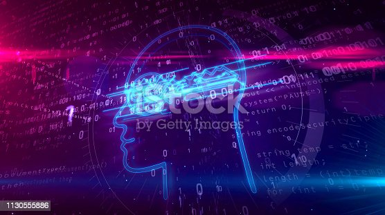 istock Cyber privacy concept with key in head 1130555886