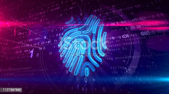 671053272 istock photo Cyber protection by fingerprint on digital background 1127397692