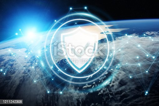 683716072 istock photo Cyber security  and connections over the globe 1211242305
