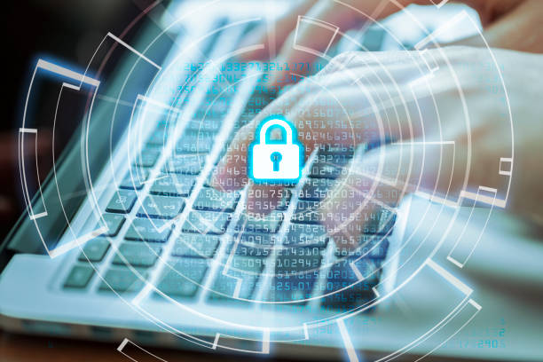 cyber security  and data protection concept - privacy policy stock photos and pictures
