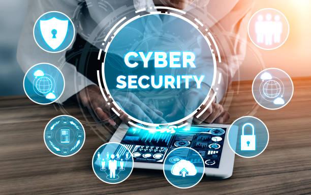 cyber security und digital data protection concept - netzwerksicherheit stock-fotos und bilder