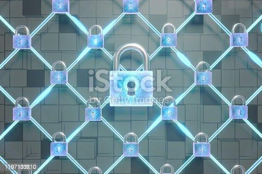 913017342 istock photo Cyber Security Blockchain 1197133210