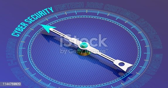 istock Cyber Security Compass Concept 3D Rendering 1144759920
