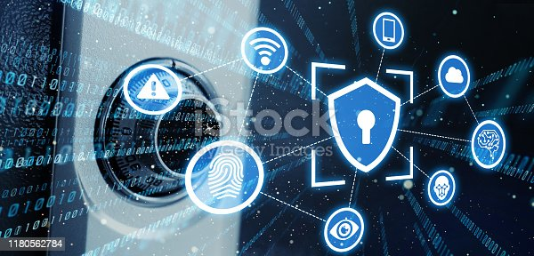 686526046istockphoto Cyber security concept. Encryption. Network security. 1180562784