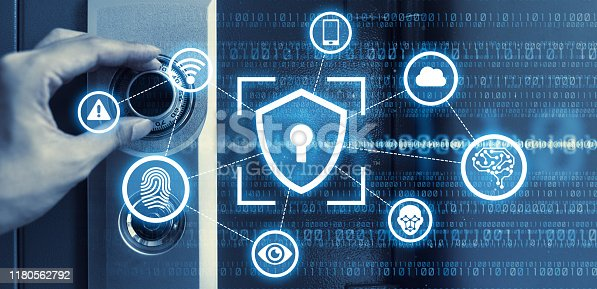 686526046istockphoto Cyber security concept. Encryption. Network security. 1180562792