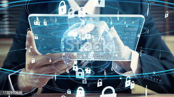 istock Cyber security concept. Encryption. 1132912646