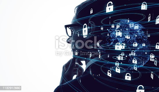 istock Cyber security concept. Encryption. 1132912660