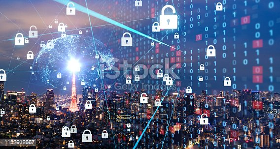 istock Cyber security concept. Encryption. 1132912667