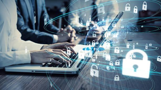 siber güvenlik konsepti. şifreleme. - koruma stok fotoğraflar ve resimler