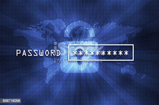 istock Cyber security concept: input password 836716058