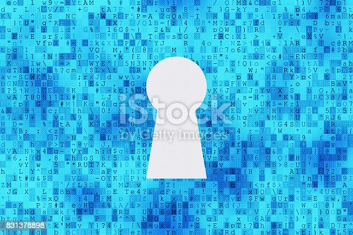532351758 istock photo Cyber security concept: keyhole 831378898
