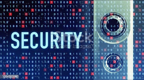 istock Cyber security concept. 1054552060