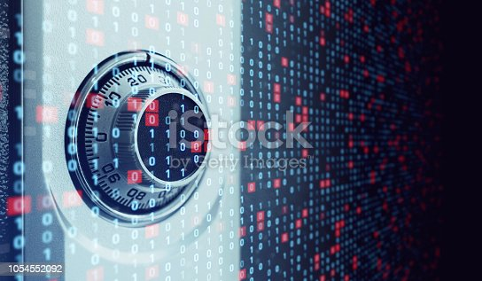 istock Cyber security concept. 1054552092