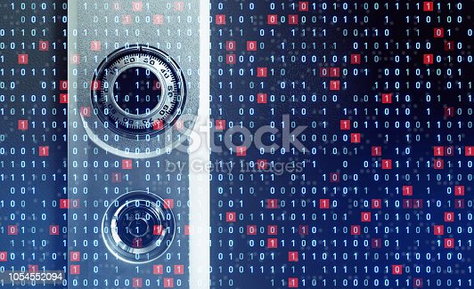 istock Cyber security concept. 1054552094