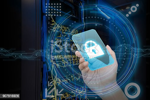 1008108222 istock photo Cyber security concept. 907916926