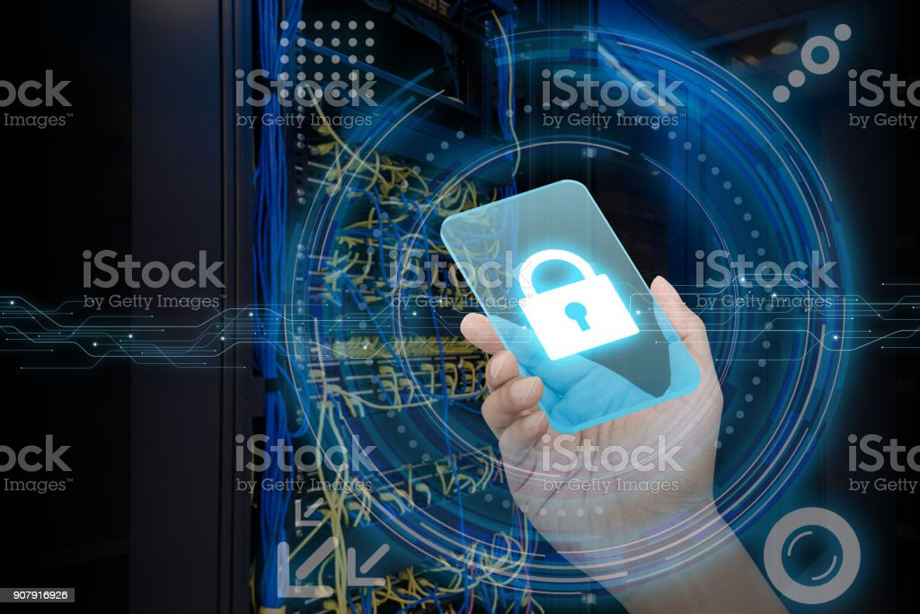 Cyber security concept. stock photo