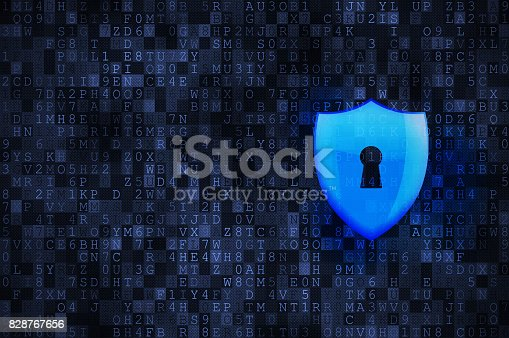 532351758 istock photo Cyber security concept: protection shield 828767656