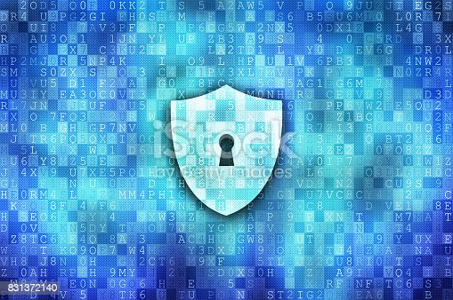 532351758 istock photo Cyber security concept: protection shield 831372140