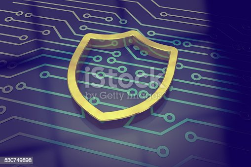 istock Cyber security concept shield 530749898
