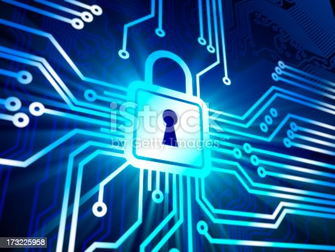 533557042 istock photo Cyber security concept with lock 173225958