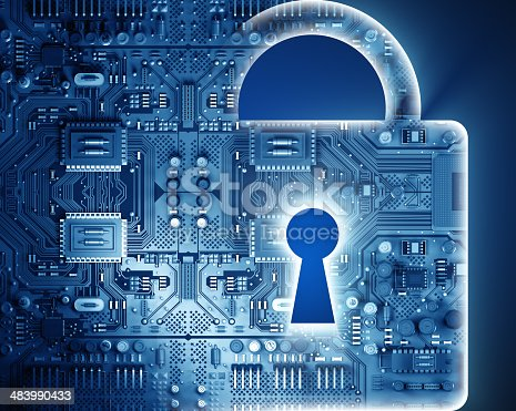 533557042 istock photo Cyber security concept with lock 483990433
