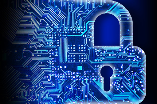 Cyber Security Concept With Lock Stock Photo - Download Image Now