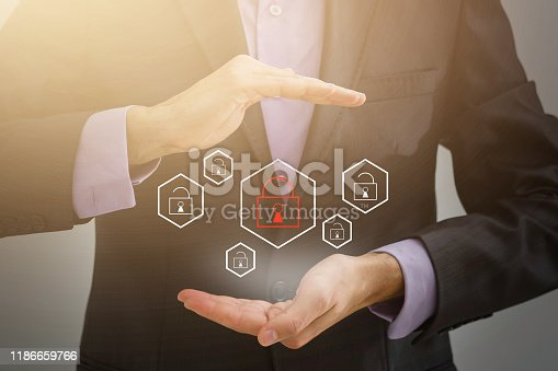 istock Cyber Security Data Protection Business Technology Privacy concept. 1186659766