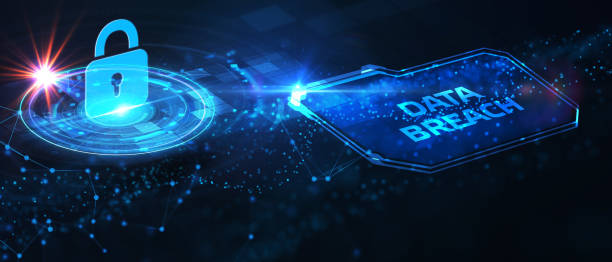 Cyber security data protection business technology privacy concept. Data breach stock photo