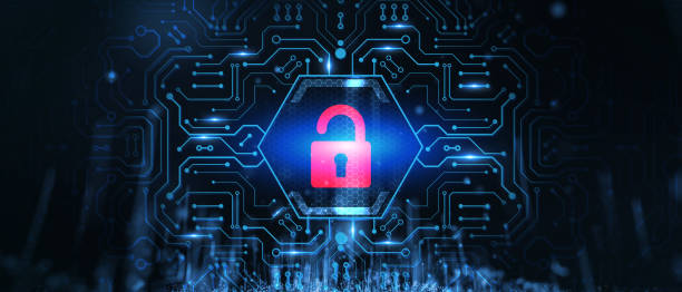Cyber security data protection business technology privacy concept. stock photo