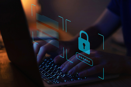 cyber security, digital crime concept, data protection from hacker