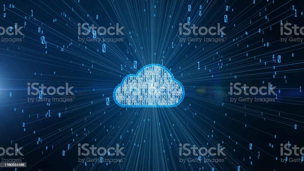 Cyber security digital data and conceptual futuristic information technology of big data cloud computing using artificial intelligence AI - Royalty-free 5G Stock Photo