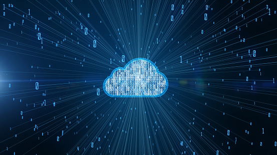 Cyber Security Digital Data And Conceptual Futuristic Information Technology Of Big Data Cloud Computing Using Artificial Intelligence Ai Stock Photo - Download Image Now