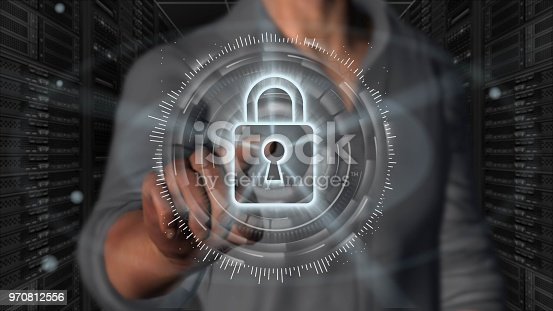istock Cyber security internet and networking concept 970812556