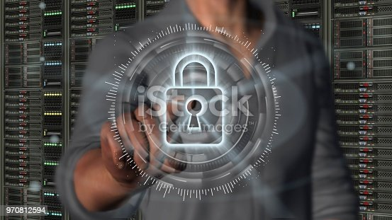 istock Cyber security internet and networking concept 970812594