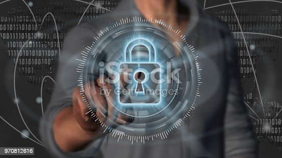 istock Cyber security internet and networking concept 970812616