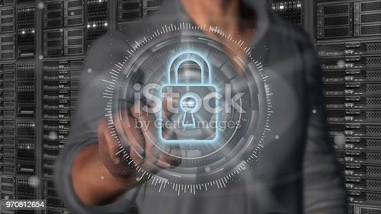 istock Cyber security internet and networking concept 970812654