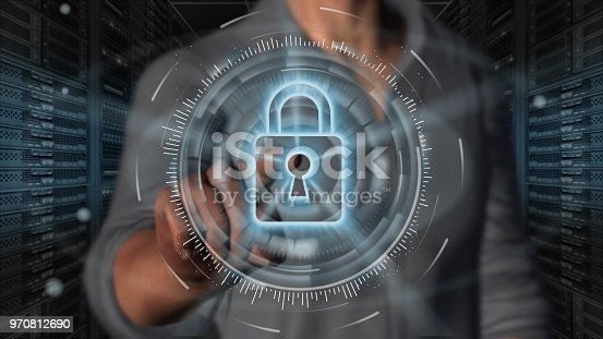 istock Cyber security internet and networking concept 970812690