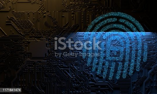 Digital cyber security protection concept