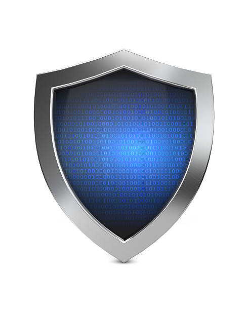 cyber shield protection stock photo