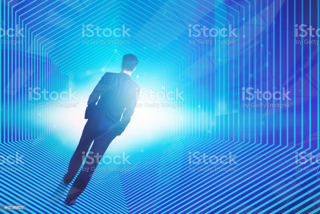 Cyber space concept stock photo